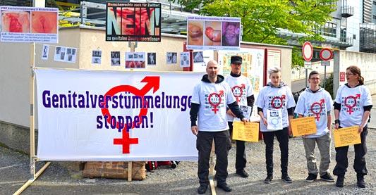 'Genitalverstümmelungen stoppen!' - Aktion von Zwischengeschlecht.org