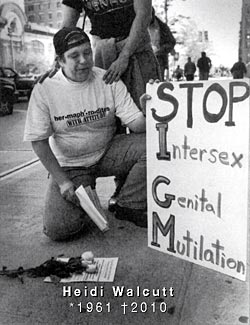 Heidi Walcutt: 'STOP Intersex Genital Mutilation!' (1997)
